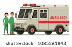 ambulance car rescue vehicle... | Shutterstock .eps vector #1085261843