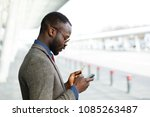 stylish african american black... | Shutterstock . vector #1085263487