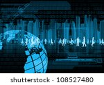 Illustration of virtual people doing business in virtual world - stock photo