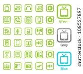 media icons | Shutterstock .eps vector #108527897