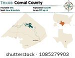 detailed map of comal county in ... | Shutterstock .eps vector #1085279903