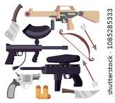 weapon set vector. weapons... | Shutterstock .eps vector #1085285333