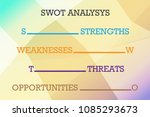 swot analysis table template... | Shutterstock .eps vector #1085293673