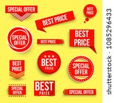 set of color special offer and... | Shutterstock .eps vector #1085296433
