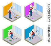 home repair isometric concept... | Shutterstock .eps vector #1085302043