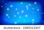 circuit board future scifi... | Shutterstock .eps vector #1085313347