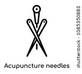 acupuncture needles icon...   Shutterstock .eps vector #1085350883