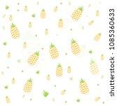 seamless vector pineapple fruit ... | Shutterstock .eps vector #1085360633