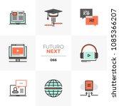 modern flat icons set of online ... | Shutterstock .eps vector #1085366207