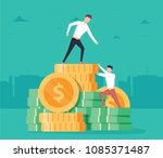 pay rise business vector... | Shutterstock .eps vector #1085371487