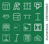 outline set of 16 word icons... | Shutterstock .eps vector #1085406863