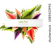 colorful blooming crystals... | Shutterstock .eps vector #1085423993