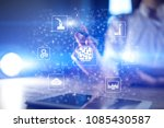 microchip  cpu  processor ... | Shutterstock . vector #1085430587