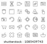 thin line icon set   browser... | Shutterstock .eps vector #1085439743