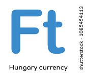 hungary currency icon isolated...   Shutterstock .eps vector #1085454113