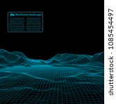 wireframe landscape wire.... | Shutterstock .eps vector #1085454497