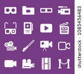 filled movie icon set such as... | Shutterstock .eps vector #1085456483