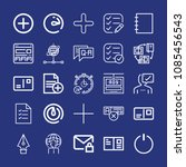 outline interface icon set such ... | Shutterstock .eps vector #1085456543