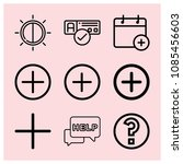 outline button icon set such as ... | Shutterstock .eps vector #1085456603