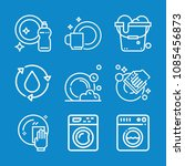 outline cleaning icon set such... | Shutterstock .eps vector #1085456873
