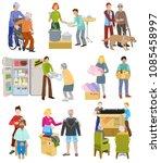charity vector volunteer people ... | Shutterstock .eps vector #1085458997