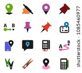 solid vector icon set  ... | Shutterstock .eps vector #1085460977