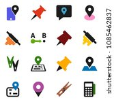solid vector icon set  ... | Shutterstock .eps vector #1085462837