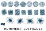 doodles set. scribble... | Shutterstock .eps vector #1085463713