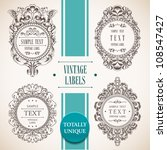 collection of vintage labels.... | Shutterstock .eps vector #108547427