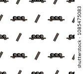 sushi and chopsticks seamless... | Shutterstock .eps vector #1085475083