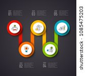 vector circles infographic on a ... | Shutterstock .eps vector #1085475203