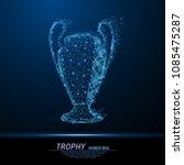 abstract polygonal light trophy ... | Shutterstock .eps vector #1085475287