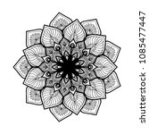 mandalas for coloring book.... | Shutterstock .eps vector #1085477447