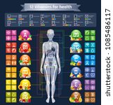 mineral vitamin supplement ... | Shutterstock .eps vector #1085486117