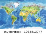 watercolor geographical map of... | Shutterstock . vector #1085513747