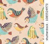 seamless pattern with...   Shutterstock . vector #1085524973