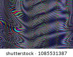 glitch psychedelic background.... | Shutterstock . vector #1085531387