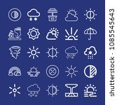 outline weather icon set such... | Shutterstock .eps vector #1085545643