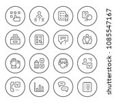 set round line icons of survey | Shutterstock .eps vector #1085547167