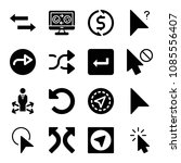 filled set of 16 arrows icons...   Shutterstock .eps vector #1085556407