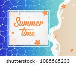 summer time in beach sea shore...   Shutterstock .eps vector #1085565233