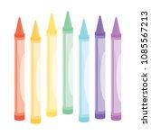 set of coloring crayons vector... | Shutterstock .eps vector #1085567213