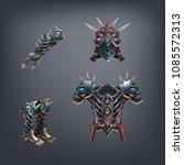 set of fantasy armor for game....   Shutterstock .eps vector #1085572313