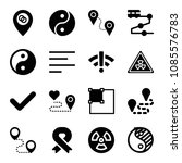 signs related set of 16 icons... | Shutterstock .eps vector #1085576783