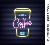 coffee. coffee neon sign. neon...   Shutterstock .eps vector #1085579093