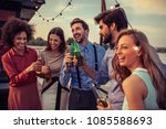 cropped shot of a group of... | Shutterstock . vector #1085588693