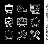 tools related set of 9 icons... | Shutterstock .eps vector #1085588783