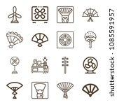 fan related set of 16 icons... | Shutterstock .eps vector #1085591957