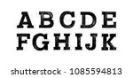 sketched abc set. font pencil... | Shutterstock .eps vector #1085594813