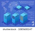 data center technology server... | Shutterstock .eps vector #1085600147